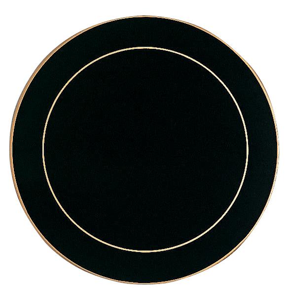 Round serving mats in black diameter set of 4 for Liner diametre 4 50